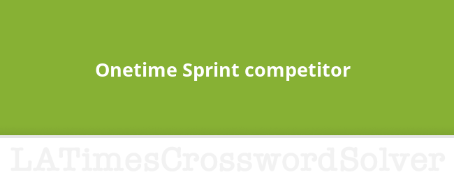 Onetime Sprint Competitor Crossword Clue