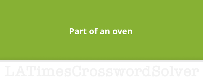 oven crossword clue