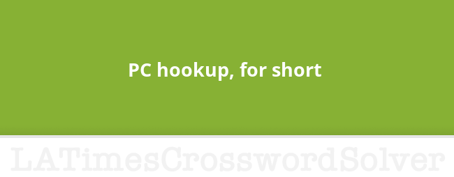 office pc hookup crossword